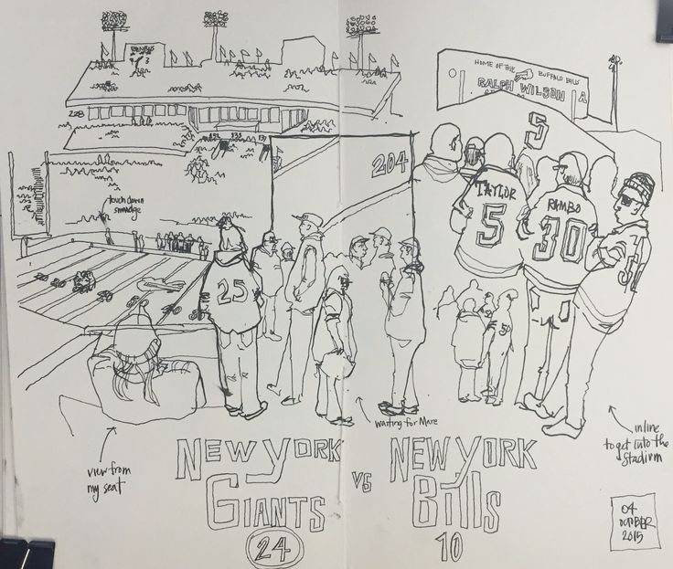 https://flic.kr/p/z3fY3b | NY Giants @ Buffalo | my dear wife surprised me with tickets to the NY Giants game the morning before. It was AWESOME. definitely got some sketching in.