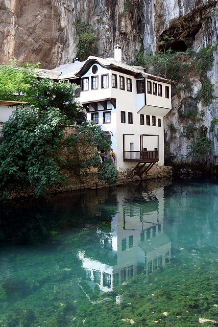 Closer Up - The Blagaj Tekke Monastery in Bosnia and Herzegovina