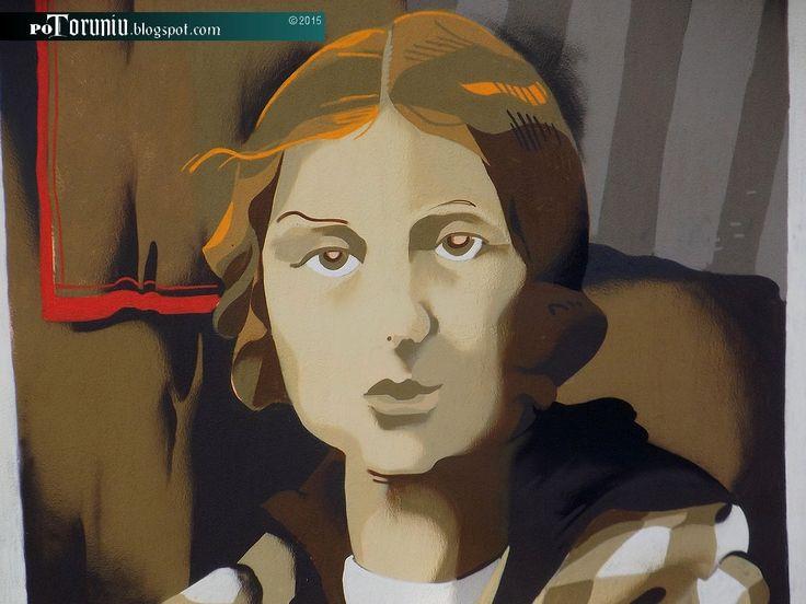 """PO TORUNIU: Mural """"Kadry z życia gen. Elżbiety Zawackiej"""""""