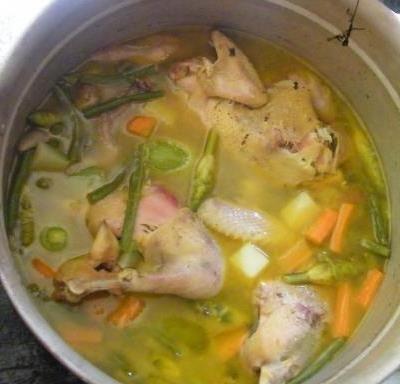 Sopa de gallina india                                                                                                                                                                                 Más