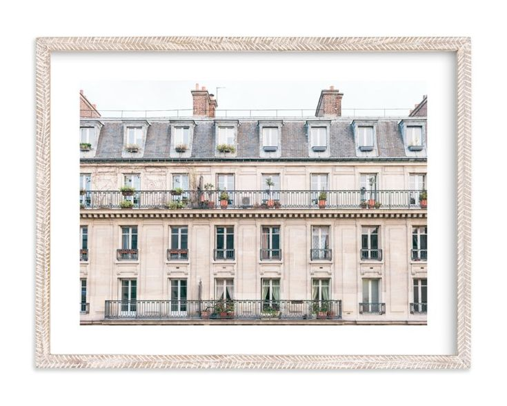 """""""Days in Paris"""" - Art Print by Jessica Cardelucci Nugent in beautiful frame options and a variety of sizes."""