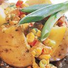 Een heerlijk recept: Gepofte aardappelen met hamsalade