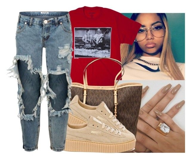 """"""""""" by eazybreezy305 on Polyvore featuring MICHAEL Michael Kors, Puma, OneTeaspoon, SimpleOutfits, Trendy and 2016"""
