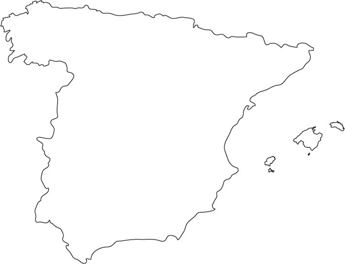 Best Geography Of Spain Ideas On Pinterest Spain History - Portugal map outline