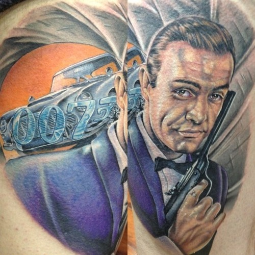 26 best james bond illustrations images on pinterest for Sean connery tattoos