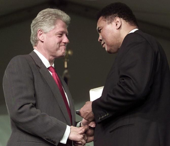 Bill Clinton Speaking at Muhammad Ali's Funeral Is the Corporate Co-Optation of an Icon The decision to have the former president as one of the speakers at Ali's funeral Friday is leaving some scratching their heads.