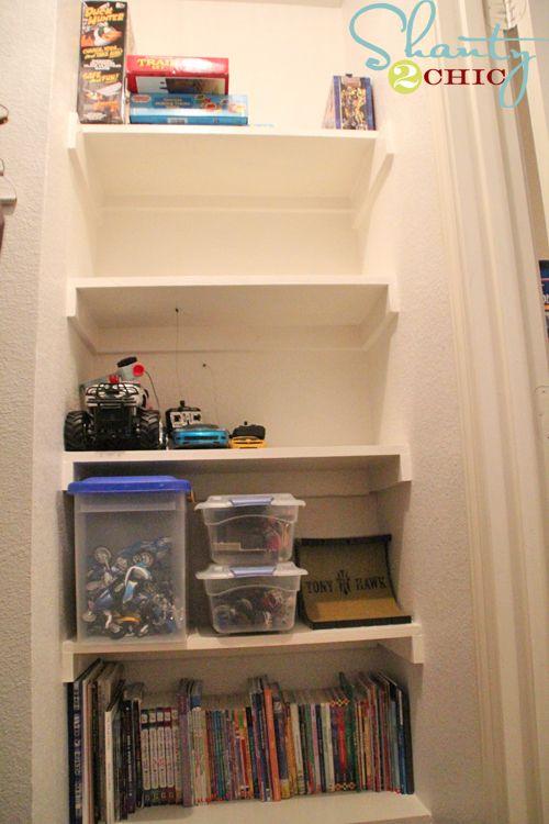 how to build strong closet shelves