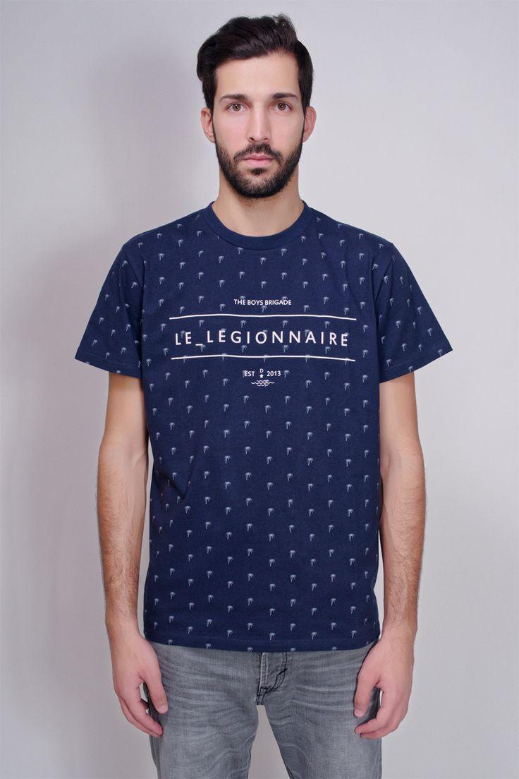 LE_LEGIONNAIRE - PALM TEE NAVY #lelegionnaire #palm #tee #t-shirt #navy #blue