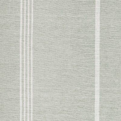 Grey Ivory Oxford Stripe -Double Width Cotton - Striped Cottons - Fabric - Fabric & Interiors