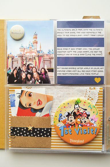 Project Life 2013 | One Little Bird -Disney scrapbook using Simple Stories