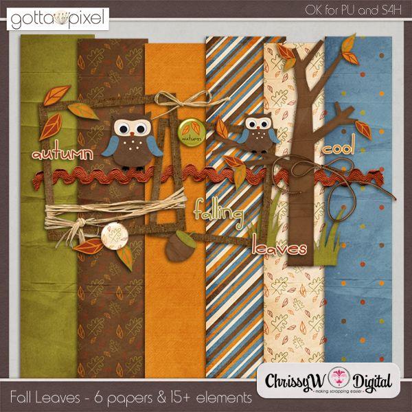 Fall Leaves Mini Kit :: Gotta Pixel Digital Scrapbook Store