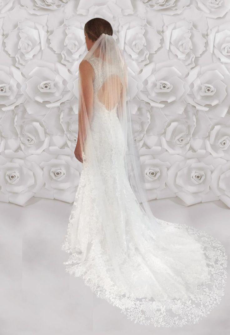 Venice Lace Veil, One Tier Veil, Cathedral Wedding Veil, Lace Cathedral Veils, Wedding Veil, Wedding Custom Made Veil, Custom Bridal Veils by LTCoutureAtelier on Etsy