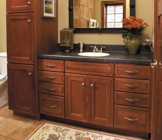 Fieldstone Cabinetry Cannes Door Style In Cherry Finished In Nutmeg. Bathroom  IdeasHome ...