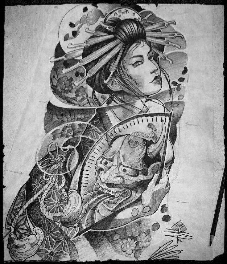 1000+ Ideas About Geisha Tattoos On Pinterest