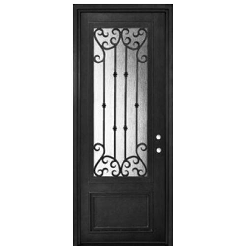 GlassCraft Doors 3/4 Lite Single Valencia-36  sc 1 st  Pinterest & 76 best Forged Iron Doors images on Pinterest | Wrought iron doors ... pezcame.com
