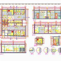 Baños; Duchas Y Vestidores De Piscina (dwg - Dibujo de Autocad) - Detalles Constructivos