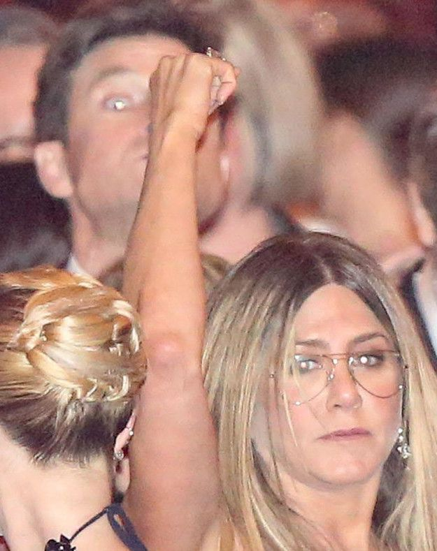"""I said, """"CHECK PLEASE!!!!""""   These Pictures Of Jennifer Aniston Leaving The Oscars Make Me Like Her 7,837 Times More"""