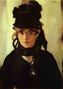 «Берта Моризо с букетом фиалок», портрет работы Эдуара Мане, 1872