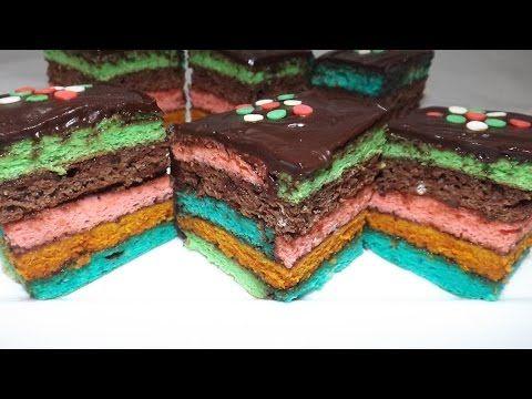Prăjitura Curcubeu ⋆ Dalida Cuisine