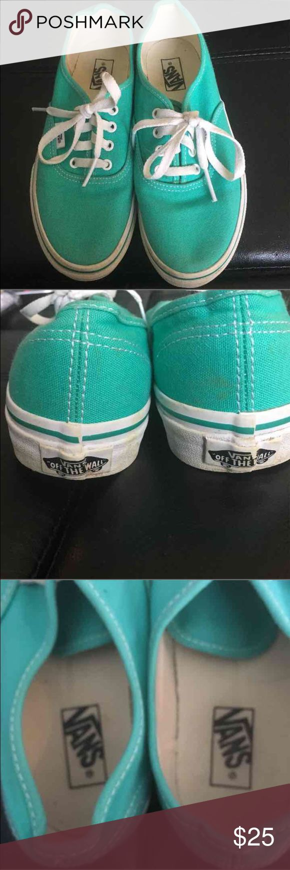 Vans 3Y Youth Size 3  Few Minor Dirt Marks  Mint Green Vans Shoes Sneakers