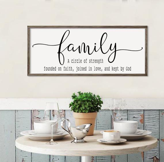 Large Family Definition Sign Home Sign Living Room Decor Home Decor Sign Farmhouse Wall De Home Decor Signs Kitchen Wall Decor Thanksgiving Wall Decor #wood #signs #for #living #room