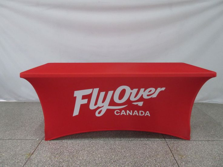 @flyovercanada is going to just #love this new table cloth ✈ #ohmyprint #printing #fabricprinting #events #display #displays #tablecloths #tablerunner #stretchtablecloth #canada #northamerica #vancouver #toronto #custom #logo #flyover