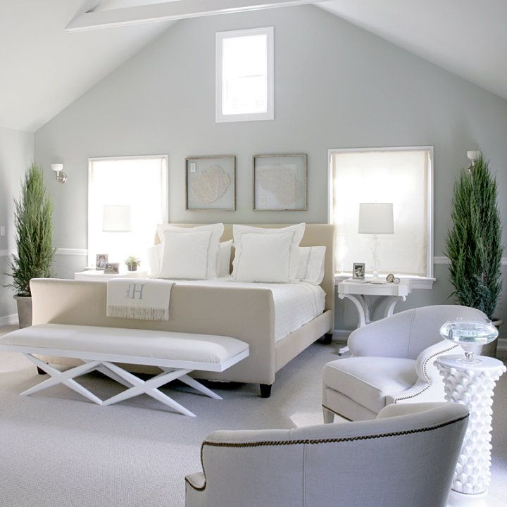 light gray walls + soft palette