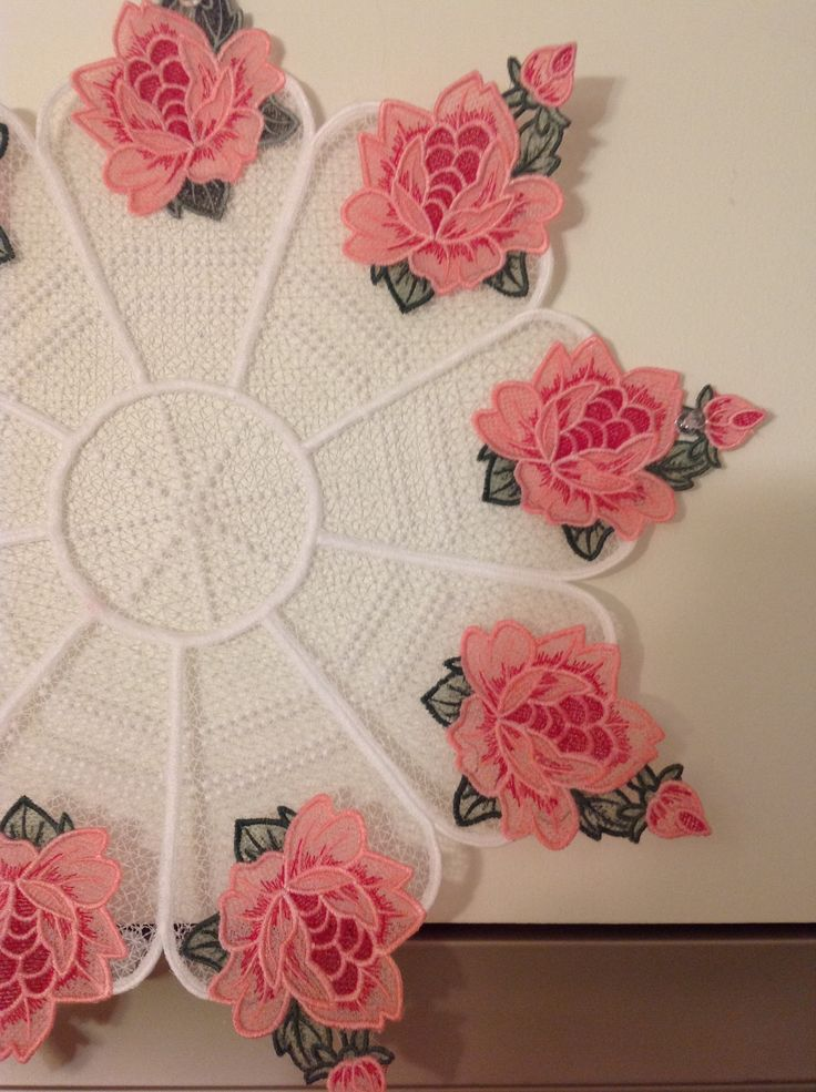 Stand Alone Lace Embroidery Designs : Jenny haskins doily design so cute quot free standing