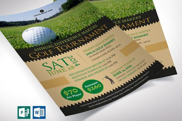 Charity Golf Tournament Flyer Word Golf Tournament Booklet Template Publisher Templates