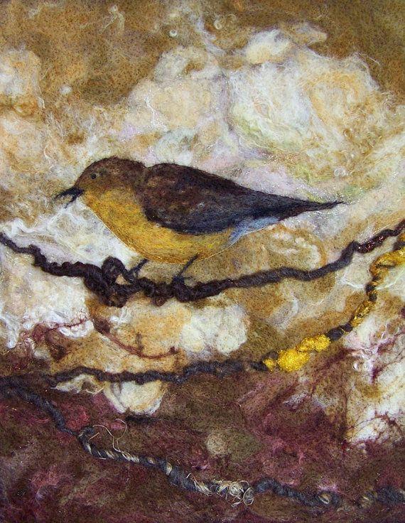 No718 On a Limb Too  Needlefelt Art XLarge by Deebs on Etsy, $135.00: Art Xlarg, 718, Felt Projects, Wet Felt, Needlefelt Art, Felt Stuff, Limb, Photos Shared, Needle Felt