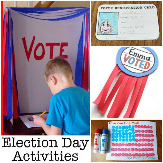 Election Day Activities for Kids- would love do this but we don't anyone to vote for