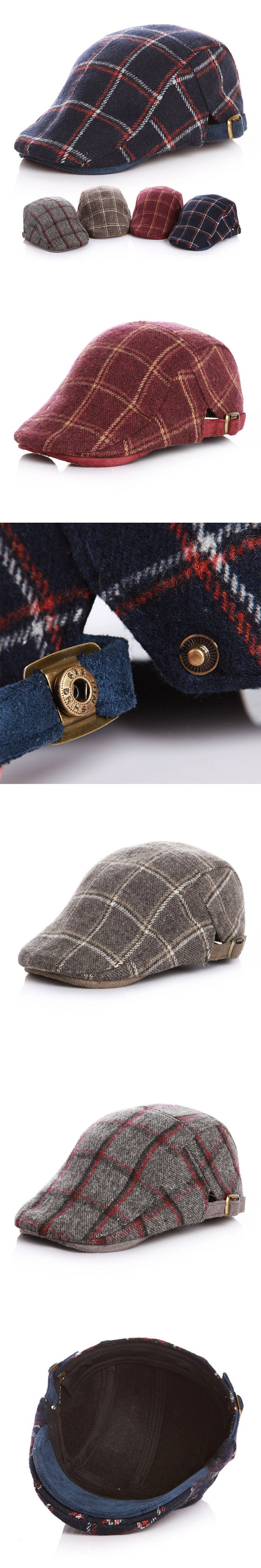 Classic Plaid Kids Beret Hat Cotton Adjustable Children Cap Autumn Winter Fashion Beret Hat For Boys Girls Sun Cap Boys Clothing