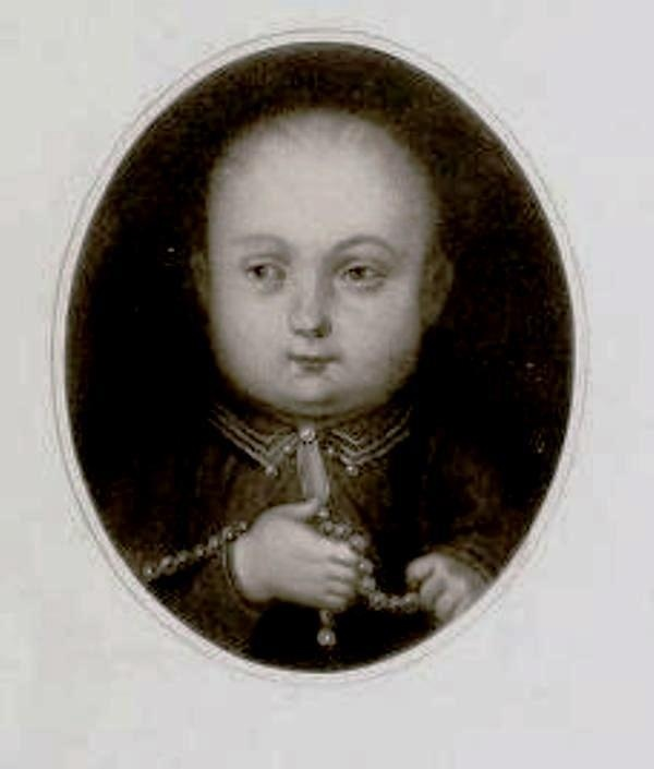 Henry VIII as a child. I found it in Henry VIII by A.F. Pollard from 1902. At the time it was said to be from a painting in the collection of Sir Edmund and Lady Verney at Rhianva, Anglesey. I wonder where it is now?