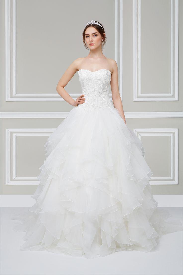 The 173 best Oleg Cassini Bridal Gowns images on Pinterest   Short ...