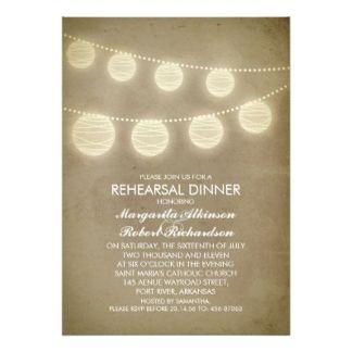 jantar de ensaio rústico das lanternas do vintage convite 12.7 x 17.78cm