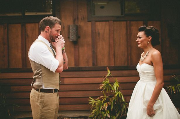 Bride in Wtoo kinsey  First Look vs. Walk Down the Aisle? first-look-vs-walk-down-the-aisle – WeddingWire: The Blog