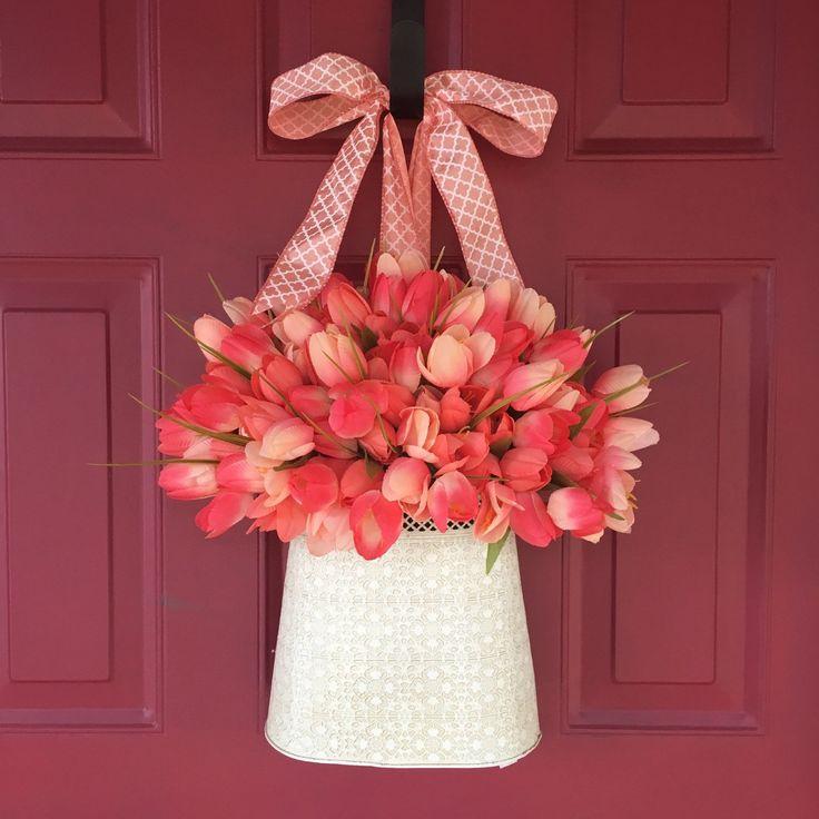 Coral Tulip Wall Pocket | Make money on Pinterest