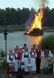 The Midsummer Festival is the greatest summer Holiday in Finland. (and Norway, Sweden) it is the longest day of the year, and depending where you live, it is quite light all night & day, OR it's like pre-dawn all night.