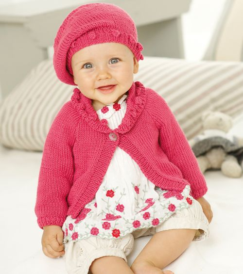 Sirdar Knitted Baby Beret Pattern - Free Craft Project – Stitching ...