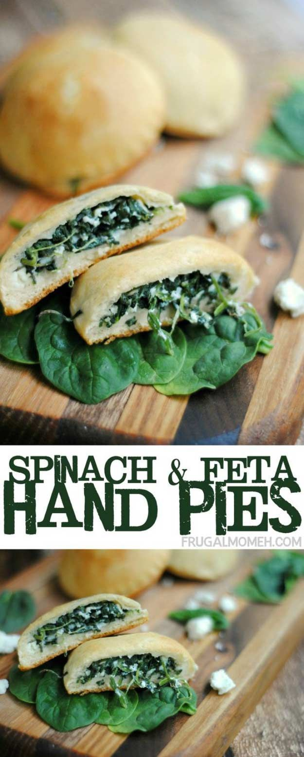 Spinach and Feta Hand Pie | Gluten-Free Breakfast Recipe That Taste So Good! by Pioneer Settler at http://pioneersettler.com/sweet-savory-hand-pies/