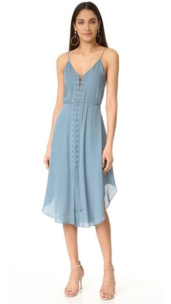 Haute Hippie Front Lace Up Dress