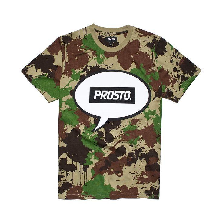 Koszulka SAY WORD CAMO Koszulka wykonana z najlepszej jakości bawełny. Z przodu grafika z logo Prosto.