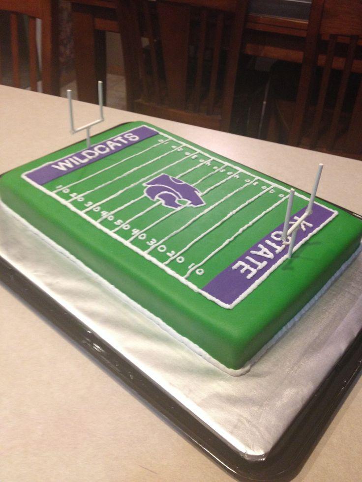 K-State football field cake. GO PURPLE!!!