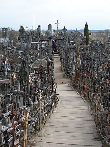 Kryziu Kainas, The Hill of Crosses, Lithuania...13 Scariest Places on Earth. Read more on our blog here: http://www.sunmaster.co.uk/blog/13-scariest-places-earth/