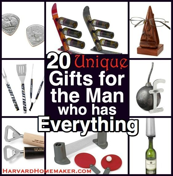 20 Unique Gifts for the Man Who Has Everything. Great ideas for Father ...