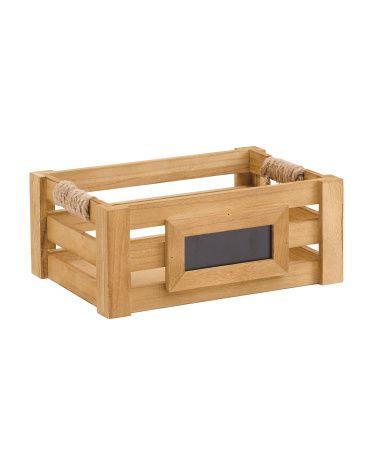 $13 Small Chalkboard Wood Bin