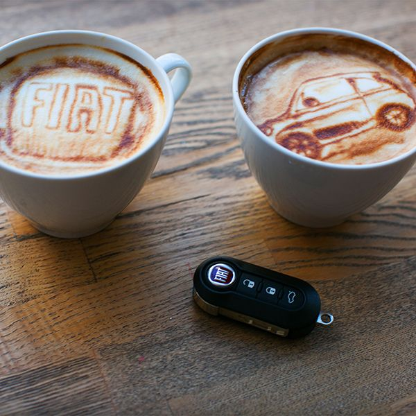 FIAT ESPRESSO ART- Your afternoon pick me up is here! Check out the amazing #Coffee #Artwork now: http://ow.ly/SiAev