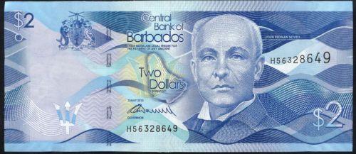 Barbados 2 Dollars 2013 Pick neu (1) in Münzen, Papiergeld Welt, Amerika | eBay
