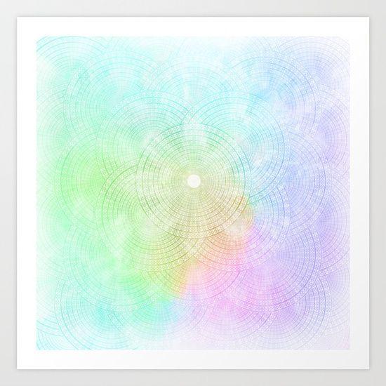 Splash Pastel Colors Rainbow Spectrum Prism White Blue