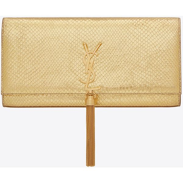 Saint Laurent Classic Monogram Saint Laurent Tassel Clutch ($1,510 ...